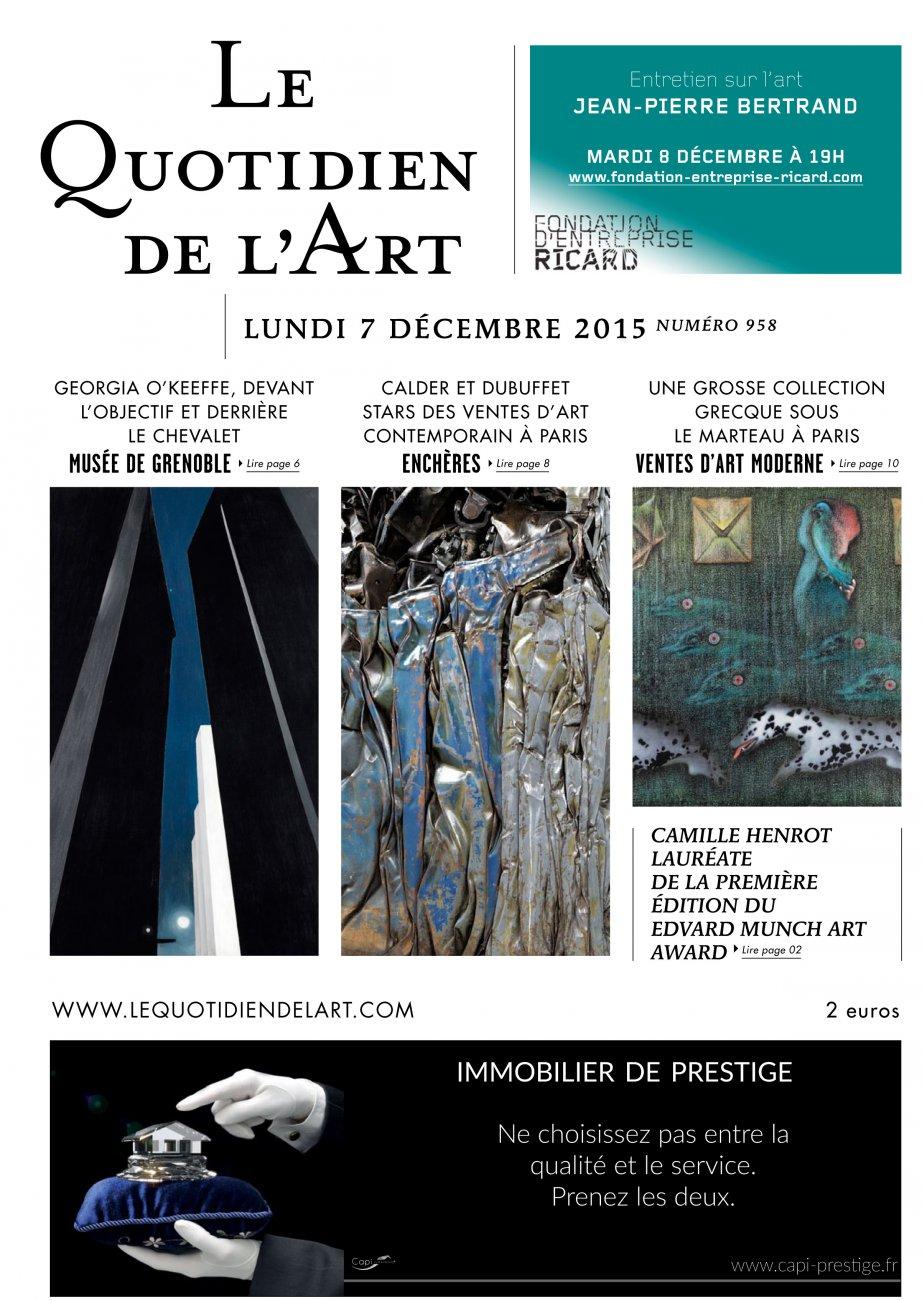 Le Quotidien de l'Art - n°958 / Lundi 7 décembre 2015 / Le Quotidien de l'Art