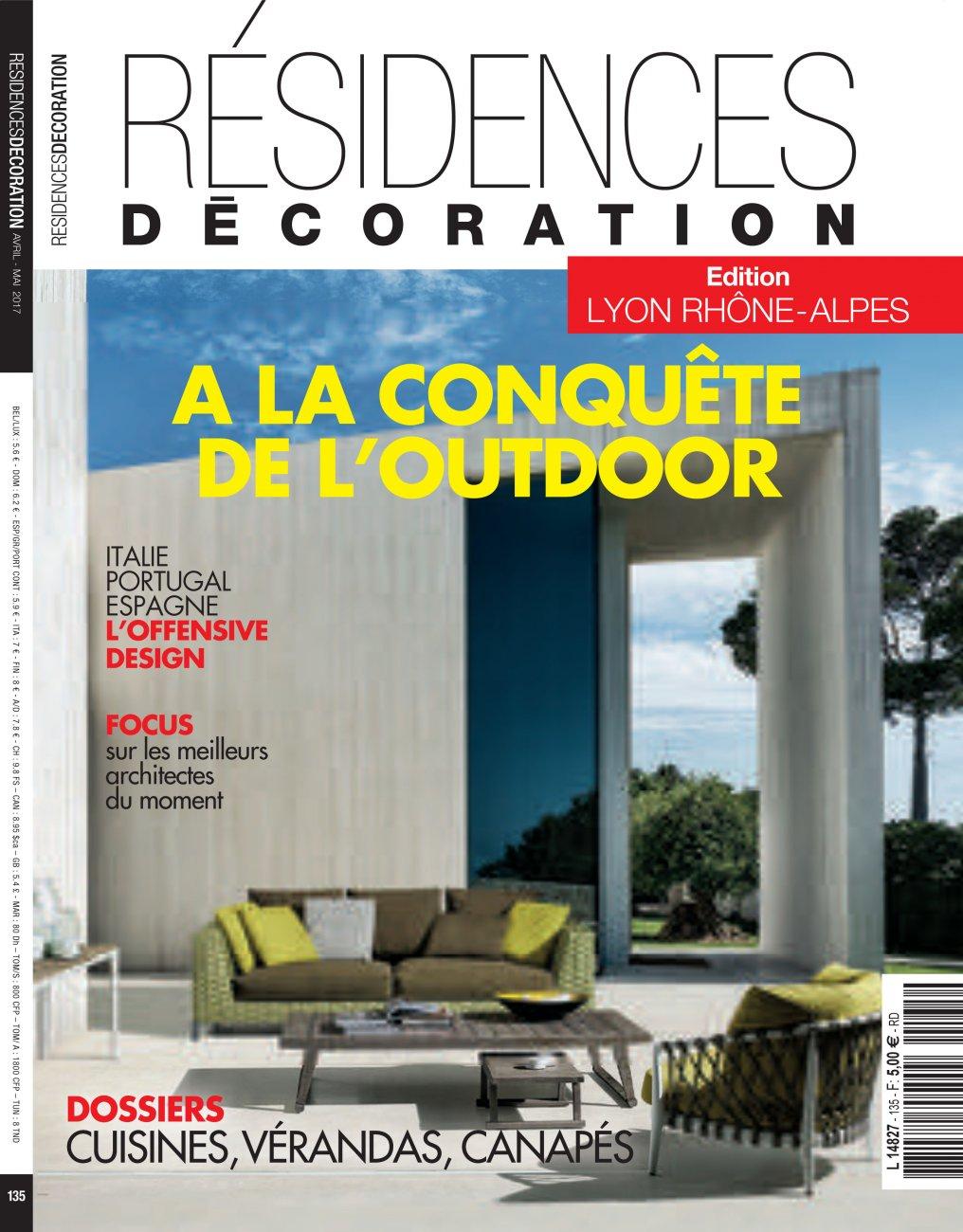 Résidences Décoration - édition Lyon Rhône-Alpes / Avril- Mai 2017 / Résidences Décoration