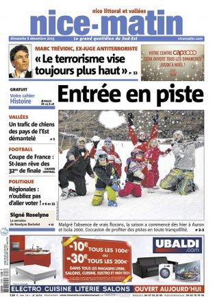 Nice Matin / Dimanche 6 décembre 2015