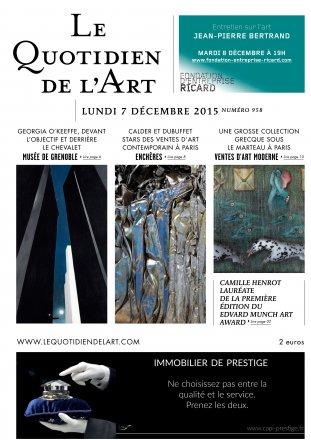 Le Quotidien de l'Art - n°958 / Lundi 7 décembre 2015