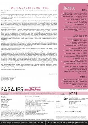 Pasajes Arquitectura - diseño e innovación - N°141